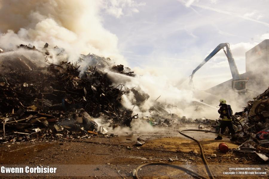 Fire at Aubange