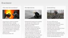 pagina brandweer van onze website