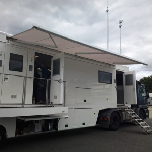 Mobile lab of the Belgian civil protection service